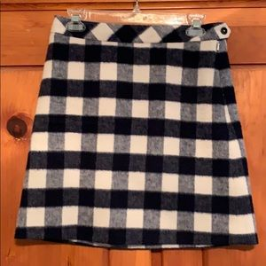 Brooks Brothers Red Fleece Wool Skirt Like New